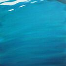 Dinghy Reflection - acrylic on canvas board by ChristineBetts