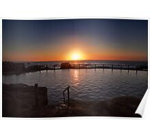 Sunrise over rock pool Maroubra Poster
