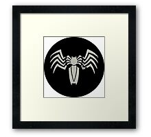 Venom Segmented Logo (black background) circle Framed Print