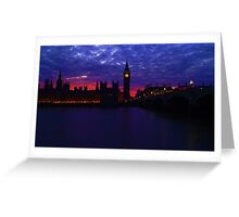 westminster blue/red Greeting Card