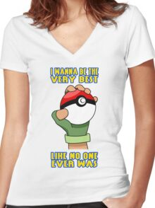 Pokemon - Be The Very Best Women's Fitted V-Neck T-Shirt