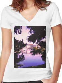View through the Trees Women's Fitted V-Neck T-Shirt