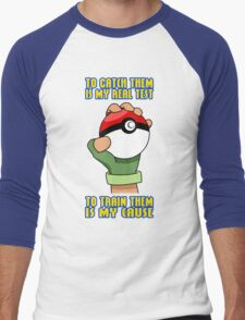 Pokemon - To Train Them Is My Cause Men's Baseball ¾ T-Shirt