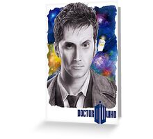 Doctor Who No.10 - David Tennant 2 Greeting Card
