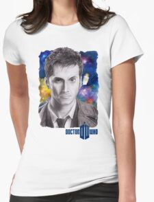 Doctor Who No.10 - David Tennant 2 Womens Fitted T-Shirt