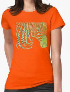 Pattern Zebra Womens Fitted T-Shirt