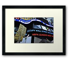 Occupy Wall Street Goes Worldwide October 15 2011  Framed Print
