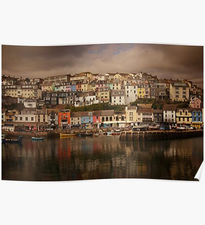 Harbour Reflections Poster