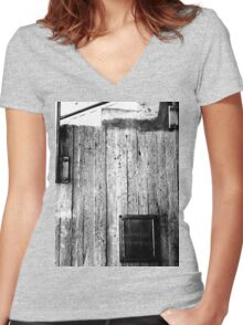 Down & Out Women's Fitted V-Neck T-Shirt