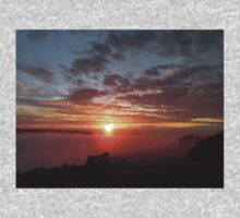 Long Ridge Foggy Sunset  T-Shirt