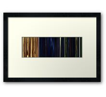 Moviebarcode: The Animatrix 1 Final Flight of the Osiris (2003) Framed Print