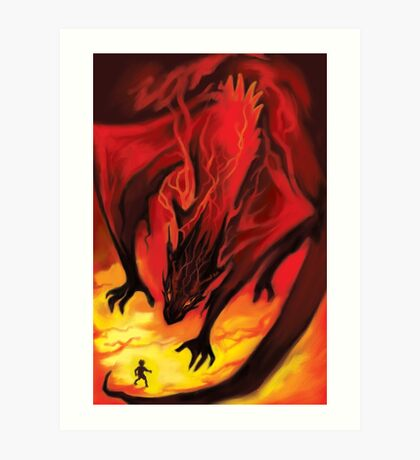 Smaug the Terrible Art Print