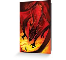 Smaug the Terrible Greeting Card