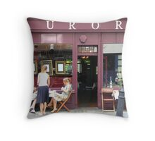 Covent Garden Cafe Throw Pillow