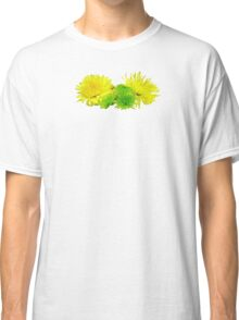 Yellow and Green Mums Classic T-Shirt