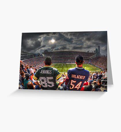 Bears vs. Packers HDR Greeting Card
