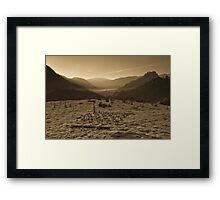 Above Hollows Framed Print