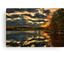 Colorful lake Waban Canvas Print