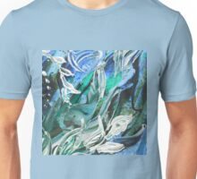 Abstract Floral Water Force Unisex T-Shirt