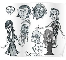 Cartoon Collection Pencil Drawings 2011 Poster
