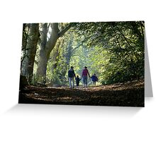 Father,Son,Mother,Daughter Greeting Card