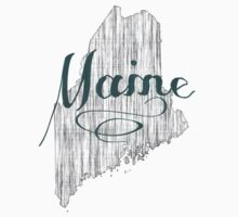 Maine State Typography One Piece - Short Sleeve