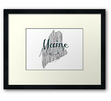 Maine State Typography Framed Print