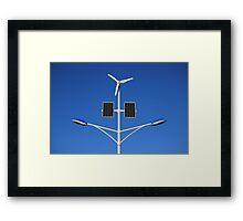 Street lamp on renewable energy Framed Print