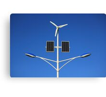 Street lamp on renewable energy Canvas Print