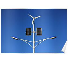 Street lamp on renewable energy Poster