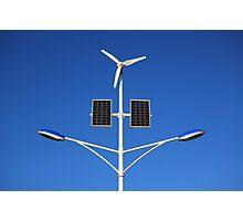 Street lamp on renewable energy Photographic Print