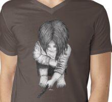 Alone... B/W Mens V-Neck T-Shirt