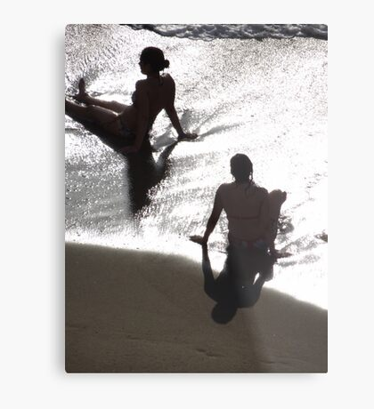 Sunlight, shade, water, sand - silhouettes I nature's artwork Metal Print