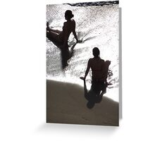 Sunlight, shade, water, sand - silhouettes I nature's artwork Greeting Card