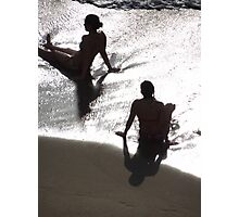 Sunlight, shade, water, sand - silhouettes I nature's artwork Photographic Print