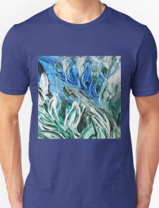 Abstract Floral Sky Reflection T-Shirt