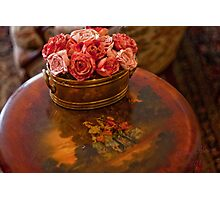 Table and Flower Photographic Print