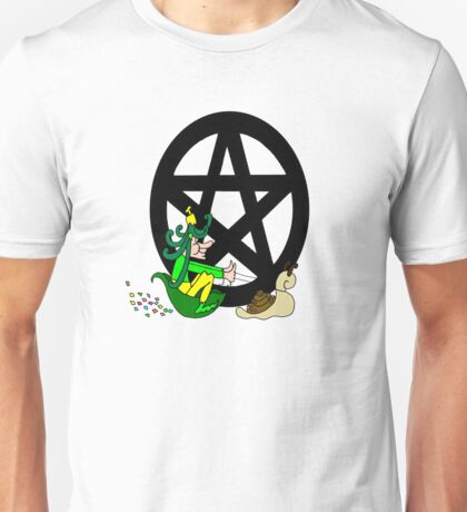 Faerie with Racing Snail and Pentacle Unisex T-Shirt