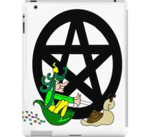 Faerie with Racing Snail and Pentacle iPad Case/Skin