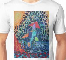 Alien spacecraft descending into lake Unisex T-Shirt