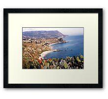 BOVALINO MARINA...CALABRIA ...mare Jonio -ITALIA -EUROPA -5500 visualizaz.2013 ---FEATURED RB EXPLORE 20 OTTOBRE 2011 --- Framed Print