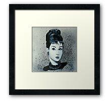 """""""Audrey hepburn"""" Framed Print"""