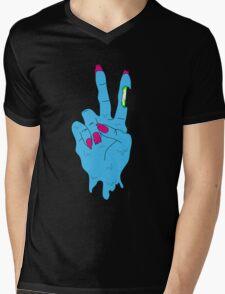 Acid Zombie Peace Hand Mens V-Neck T-Shirt