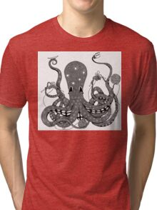 Kraken Thesads and Knitting Tri-blend T-Shirt