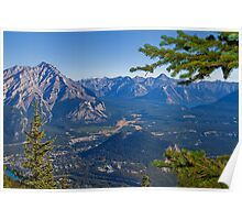 Canada. Banff National Park. View from Sulphur Mountain. Poster