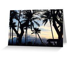 Hawaiian Silhouette  Greeting Card