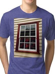 0052 The Barbers Shop Window Tri-blend T-Shirt