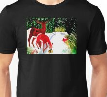MAN HAS ENTERED THE FOREST Unisex T-Shirt