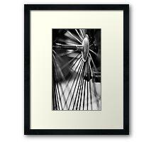 Bike Spokes Framed Print