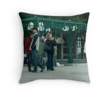 Bus Station Throw Pillow